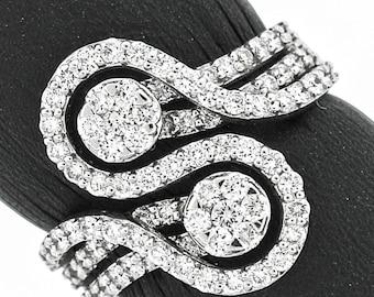 Stylish 14k White Gold Ring 1.03ct. Diamonds with IGI Certificate