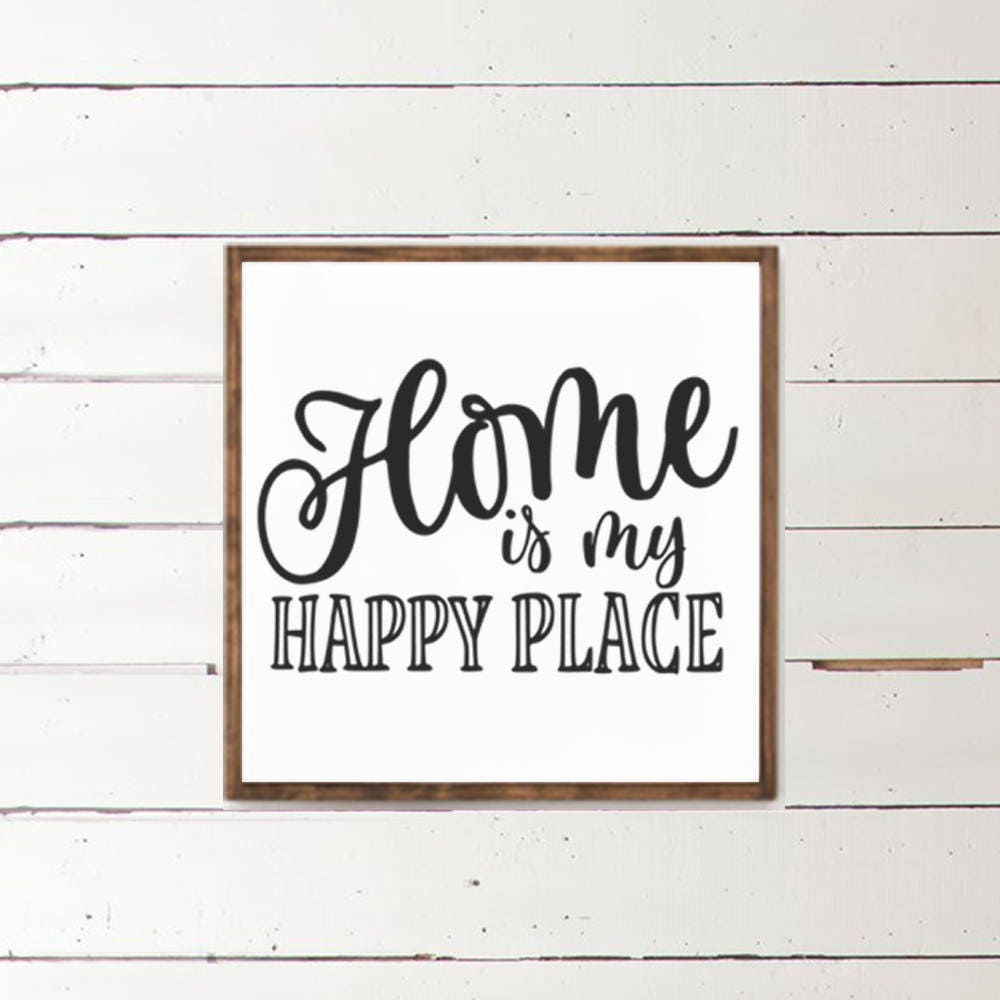 Home is My Happy Place Wood Sign - Home Decor - Wood Signs - Wooden ...