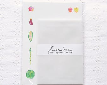 Letter writing set with vegetables