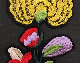 Embroidered Flower - Iron On Patch
