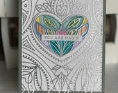 You Are Magic Silver Embossed Card with Watercolor
