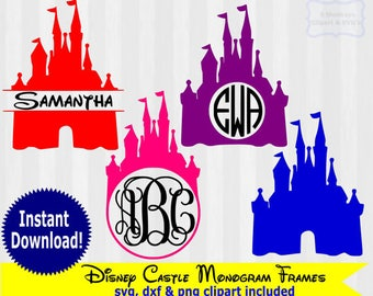 Disney Castle Svg, Princess Svg, Princess Castle Svg, Monogram Svg, Disney Svg, Minnie mouse svg, Magic kingdom, Svg Files, castle clipart