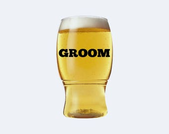 Personalized Groom Beer Glass - Stag Party Beer - Gift for Groom - Beer Gift - Personalized Beer Mug - Beer Glass - Stag Party - TGFS004