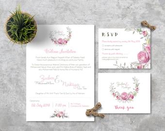 Walima Wedding Invitation - PRINTABLE