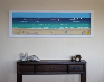 Boardwalk, 3D beach Art, Australian made Original art