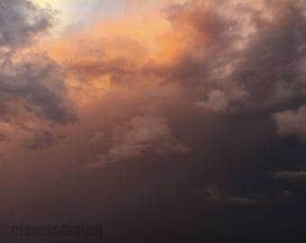 Stormy cloudscape photograph. 12x18 cloud photograph. Cloud photography. Nature photography. Storm photography.