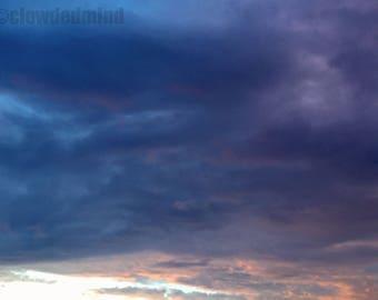 Cotton candy cloudscape photograph. 12x18 cloud photograph. Sunset photography. Cloud photography. Nature photography .