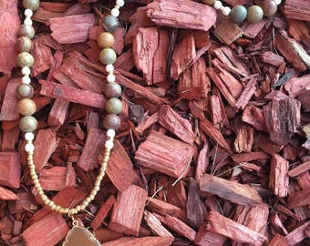 Picasso Jasper & Agate Beaded Necklace