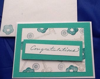5 congratulations, Best wishes, just for you greeting cards