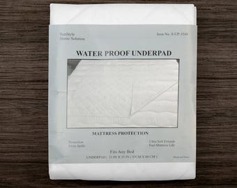 """Waterproof Bed Protector Mattress Pad Washable Sheet Underpad Rest Cover 35X48"""""""