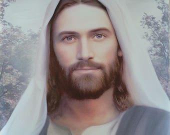 Jesus Christ Leather Print