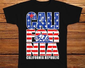 California USA 4th of July T-shirt