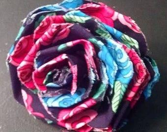 Fabric Rose Barrette Rose Patterns