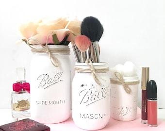 Make up Brush Holder, make up brush organizer, make up storage jars, make up organizer set, makeup organizer, makeup brush holder