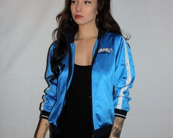 Vintage 80s Bright Blue Umbro Jacket Size S