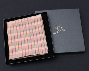 Check Organic Cotton Pocket Square