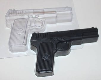 Gun plastic mold, plastic soap mold, soap mold, pistol mold soap, handgun soap mold, gun soap, pistol soap