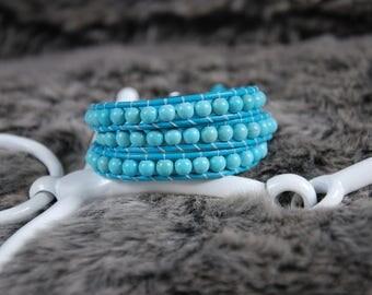 Turquoise Triple Wrap Bracelet