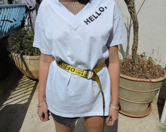 Hello oversized t-shirt with belt