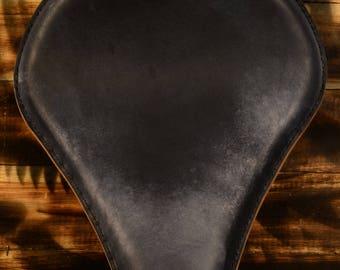 Handmade Bobber Long Seat Vintage Black