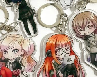 Persona 5 Clear Acrylic Keychains
