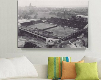 University of Texas at Austin Football Stadium Classic/Vintage with Austin Texas Capital in the Background,  1908  - Print