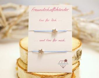 Friendship bracelet set ~ Star ~ Silver