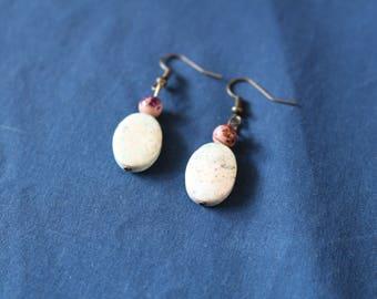 Composite Stone Earrings
