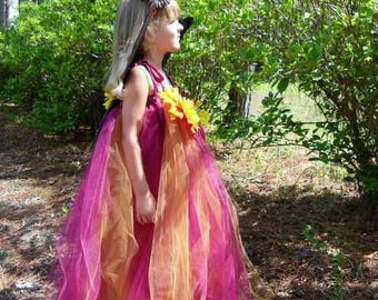 Gorgeous custom made autumn fairy costume! Girl's sizes 5-12.