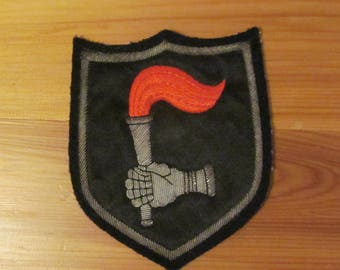 Vintage Cloth Patch Military or School