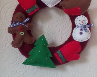 Wool wrapped Christmas wreath
