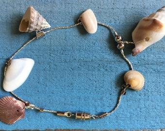 Seashell ankle bracelet