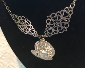 Silver antique locket