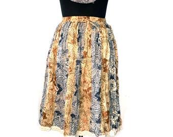 Hand made 12 panel bohemian lace skirt