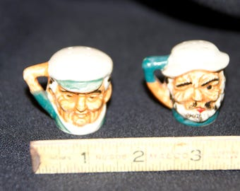 Vintage Toby Mug Style Salt and Pepper Shakers from JAPAN