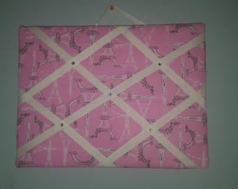 Pink Eiffel Tower Memo Board