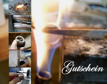 workshop for forging promiserings/ weddingrings in silver, coupon as a present or for yourself
