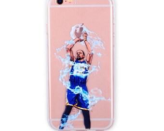 Lightning 3's Basketball iPhone Case, Hand-drawn Basketball iPhone Case / Fits iPhone 5, iPhone 6, iPhone 7