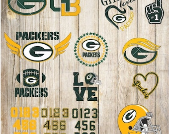 Green Bay Packers-Cuttable Design Files(Svg, Eps,Dxf, Jpg) For Silhouette Studio, Cricut Design Space, Cutting Machines,Instant Download