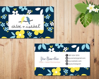 PERSONALIZED Chloe and Isabel Business Card, Custom Chloe and Isabel Card, Fast Free Personalization, Printable Business Card CL08