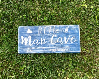 Little Man Cave Wood Sign
