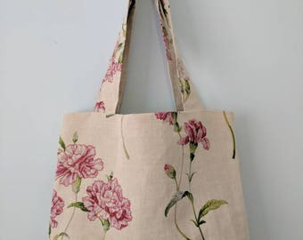 NEW floral canvas tote bag, cotton canvas tote bag, shopping bag, market bag, book bag,
