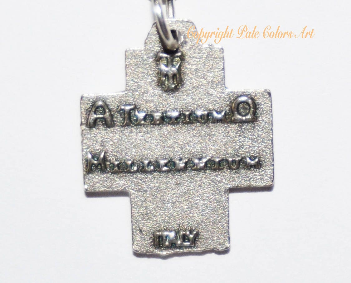 Greek cross necklacealpha omega cross necklacesterling silver shipping buycottarizona