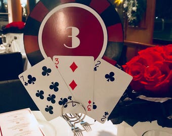 Casino Themed Table Numbers