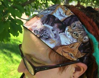 Kitty Headband, Cat Headband, Cat Elastic Head Covering, Cat Breed Hair Covering