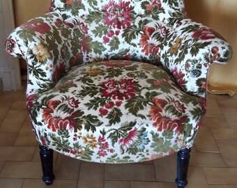 Napoleon III era XIXem Toad style Chair