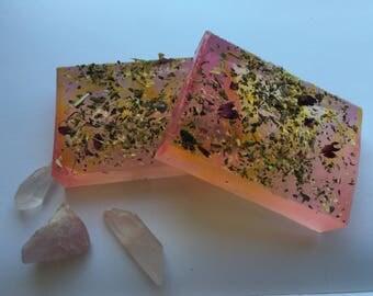love spell bar // crystal soap