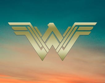NEW Wonder Woman Logo - Vinyl Decal, Car Decal, Laptop Decal, Water Bottle Decal, Bumper Sticker, Yeti Tumbler Decal, DC Comics, Super Hero