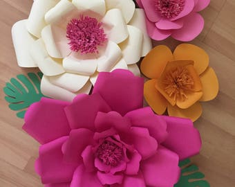 Moana theme party flowers for backdrop