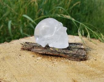 Beautifully Detailed Unique Clear Quartz Skull